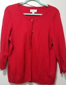 Elle Red Bow Cardigan